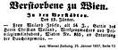 Weiland Josefa Todesanzeige 1857
