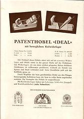"Patenthobel ""Ideal"" im Katalag Nr. 33 (ca. 1930)"