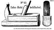 Zahn-Hohlkehlhobel nr63 tafel5