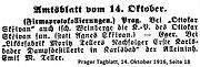 Skrivan Prokokollierung junior 1916