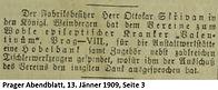 Skrivan Spende 1909
