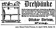 Skrivan Anzeige Drehbänke1878