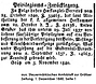 Anton Gruber Privilegiumszurücklegung 1840