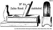 Zahn-Rundstabhobel nr64 tafel5