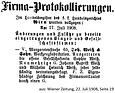 Weiß & Sohn Austritt Sophie Weiß 1908