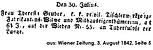 Todesanzeige Theresia Gruber 1842