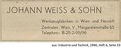 Weiß & Sohn Anzeige 1946