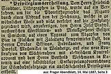 Skrivan Privilegium Wächteruhren 1887