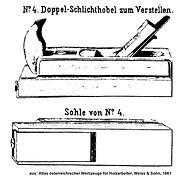 Weiss & Sohn, Doppelhobel Nr. 4, 1861
