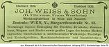 Weiß & Sohn D. Flir Anzeige 1913