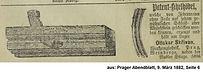 Skrivan Anzeige Kehlhobel 1882