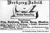 Skrivan Anzeige 1874