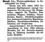 Horak Adressbucheintrag 1867