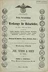 Weiss & Sohn, Preisliste 1864, Titelseite