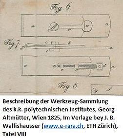 Doppeleisen Altmütter TafelVIII 1825