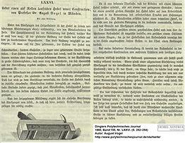 Rollenhobel Artikel Dingler 1860