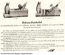 Reformhobel, Weiss & Sohn, Musterbuch 1928