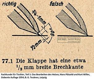 Klappe Brechkante, Pätzold & Willer, 1954