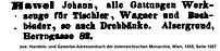 Hawel Johann Adressbuch 1855