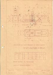 Originalzeichnung Weiss & Sohn, 108 1/2 Reform Putzhobel