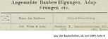 Weiß & Sohn Hausbau Ansuchen 1899