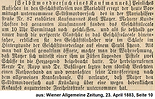 Mayer Karl Wiener Allgemeine Zeitung 1883