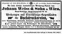 Weiß Anzeige Buchdruck 1865