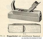 Weiss & Sohn, Doppelhobel Nr 4, 1917
