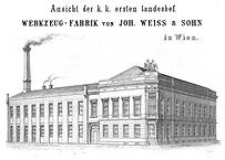 Weiß & Sohn, Fabriksansicht, Wien Wieden, 1861