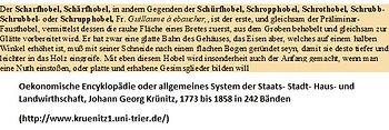 Schropphobel bei Krünitz um 1800