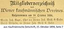 J. B. und Wilhelm Weiß Kaufmännischer Verein 1894