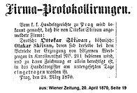 Skrivan Firmaprotokollierung 1870