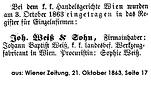 Weiß Eintragung Einzelfirma 1863
