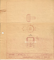 Originalzeichnung Weiss & Sohn, Klappenschraube zu 108 1/2