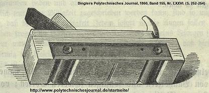 Rollenhobel Vogel (Dingler) 1860