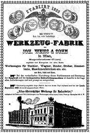 Inserat Weiß & Sohn 1863
