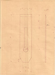 Originalzeichnung Weiss & Sohn, Eisen zu Nr. 108 1/2