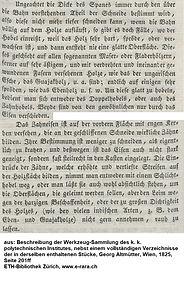Zahnhobel, Altmütter, 1825