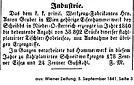Anton Gruber Produktion 1841