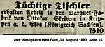 Skrivan Tischler Sachsen 1883