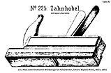 Zahnhobel nr225 tafel11