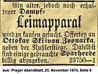 Skrivan Kauf Leimapparat 1874