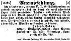 Josef Scheu Anzeige 1846
