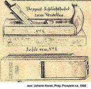 Johann Horak, Doppelhobel zum Verstellen, 1866