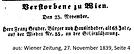 Todesanzeige Franz Gruber 1839