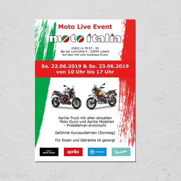 Moto Italia Event Flyer