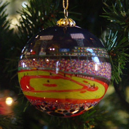 Fenway Park Night Glass Ornament