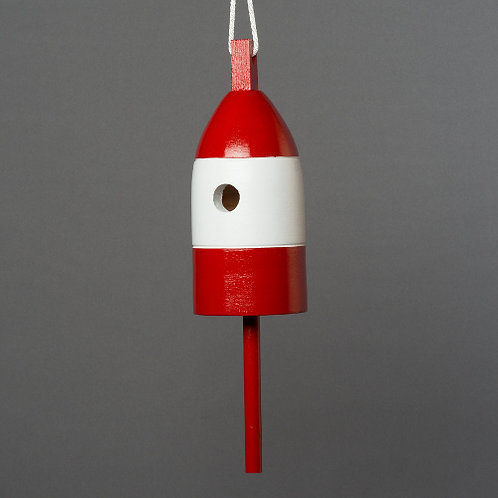 Red/White/Red Buoy Birdhouse
