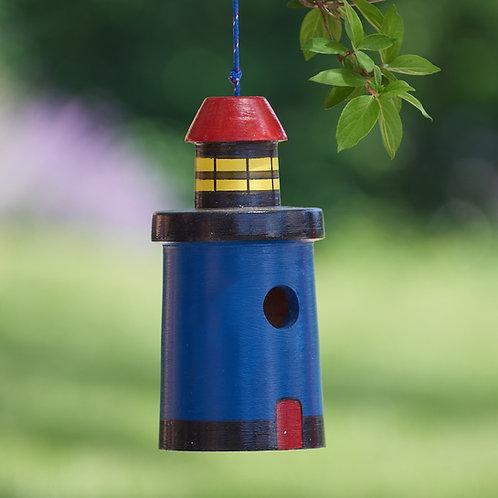 Dark Blue Lighthouse Birdhouse