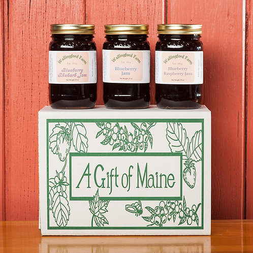 Wild Maine Blueberry Jam Variety Gift Box